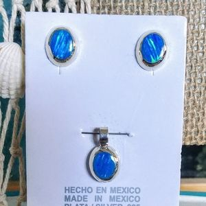 🆕⛱️ Mexico Sterling Silver Opal Set